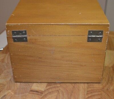 Vintage Superior Quality Woodware Wooden Storage Box  Hinged 13cm