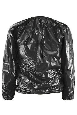 L91 Heavy Duty Fitness Weight Loss Sweat Sauna Suit Exercise Gym Anti-Rip Black