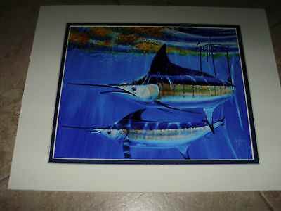 Guy Harvey /   BOYS IN THE HOOD    (HAND SIGNED)   mini print 11X14  INCHES