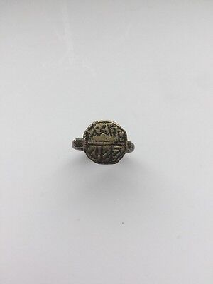 Antique African Bronze Ancient Stamped Ring
