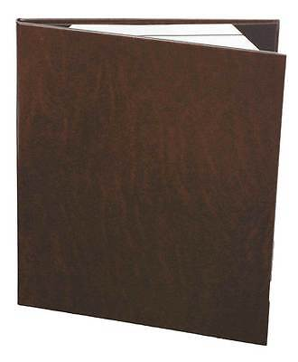 "(10pc) Menu Covers, 2-panel, 8.5"" x 11"" insert, Brown Bonded Leather"