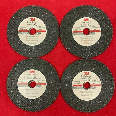 "QTY:10 3M Green Corps 3"" X 1/16"" X 3/8"" Cut Off Discs 01988 USA SHIPPING"