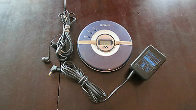 Sony D-EJ100 G-Protection Mega Bass Walkman Portable CD Player RM-MC26 Remote p9