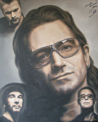 U2 Painting, AUTOGRAPHED by Bono & Edge - VIDEO PROOF