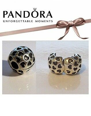 RETIRED Pandora Sterling Silver SHOWERED WITH LOVE Clip Charm - 791037
