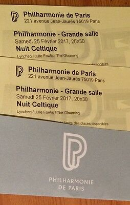 "2 Tickets for ""NUIT CELTIQUE"" 25/02/2016 at Philharmonie de Paris"