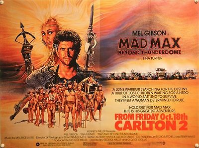 MAD MAX 3: BEYOND THUNDERDOME - UK Quad (1985) Amsel artwork - Mel Gibson -