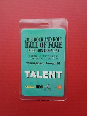 """RUSH,HEART ,laminated""""OTTO"""" backstage pass,HOF,Induction 2013,TALENT"""