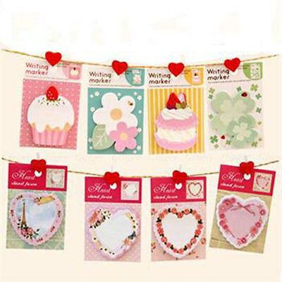 Cute Cupcake Sticky Post Bookmark Tab Office Memo Notepad Note Stationery