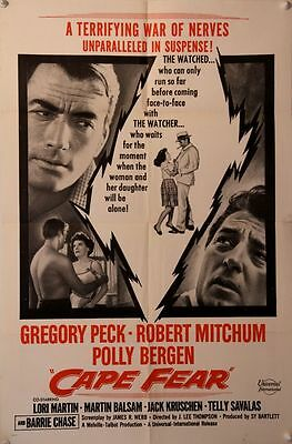 CAPE FEAR Original Military* US One Sheet (1962) Gregory Peck - Robert Mitchum