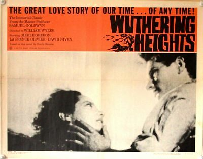 WUTHERING HEIGHTS US Half Sheet Film Poster (RR1963) Laurence Olivier, Merle
