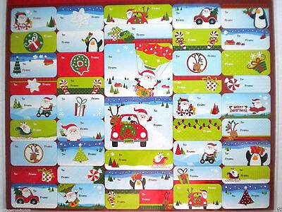 Pkg. Of 100 Beautiful Peel 'n Stick Christmas Gift Tags ~ #14