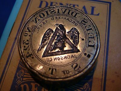 Lee's Division No.324 State of Tenn. hand engraved w/ fine eagle Jackson Co.Vol.