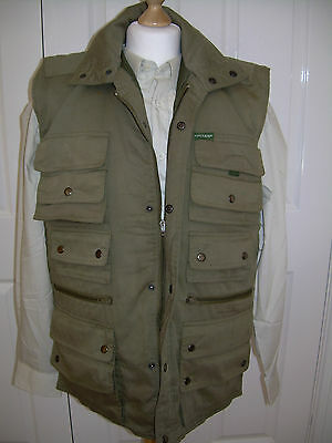 Men's Fishing vest+Quilted+by Openair+Loads pockets+Medium size