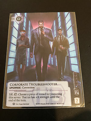 Android Netrunner LCG Alt-Art Promo - Corporate Troubleshooter