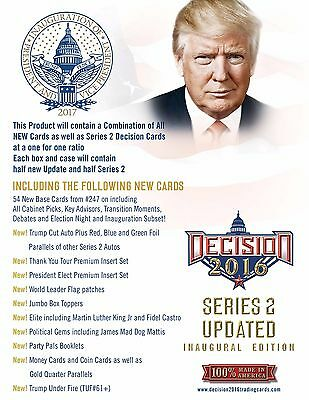 2016 Decision Series 2 Hobby 4 Box Sealed Case LOADED A TRUMP CARD??? DRYING UP