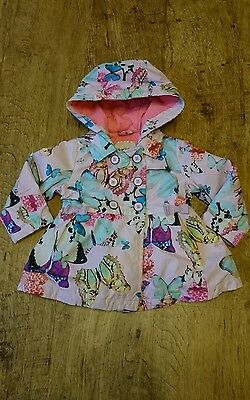 Ted Baker Baby Girls Coat Jacket with Hood Size 12-18 Months