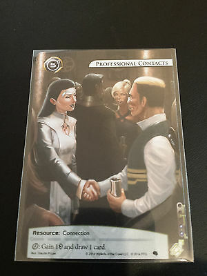 Android Netrunner LCG Alt-Art Promo - Professional Contacts (Ultra Rare!)