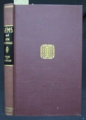 1941 Gemstone Reference Book; Gems and Gem Materials; Mineralogy. Gemology