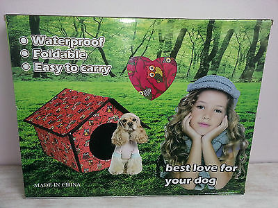 Foldable and Waterproof Puppy Cat Kennel Indoor Outdoor - Various Colours
