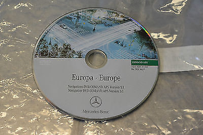 Mercedes Benz Comand Navigation DVD Europe Version 5.1
