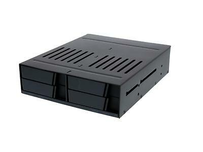 "iStarUSA BPX-124-SA 5.25"" to 4 x 2.5"" SATA 6 Gbps HDD SSD Hot-swap Rack"