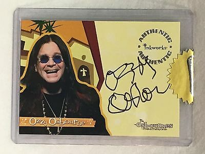 2002 Ozzy Osbourne Inkworks Rookie Autograph Gold Sealed Uncirculated SP RC AUTO