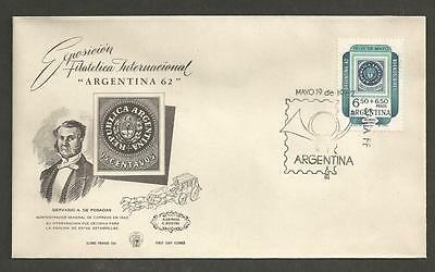 ARGENTINA -1962 International Philatelic Exposition, Argentina- FIRST DAY COVER.