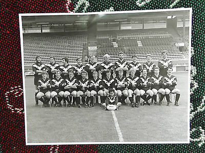 "10"" x 8"" RUGBY LEAGUE PRESS PHOTO - FULHAM TEAM 1981-1982"