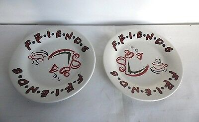 Friends TV Warner Brothers 1999 Coffee Mug Saucers Pair, Collectible, Free Post