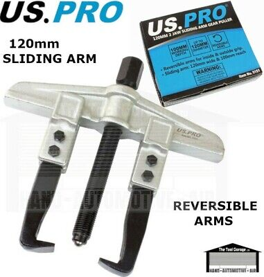 US PRO Tools 120mm 2 Jaw Sliding Arm Gear Puller NEW 5136