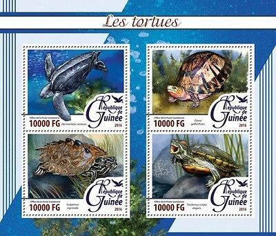 Z08 IMPERFORATED GU16225a GUINEA (Guinée) 2016 Turtles MNH