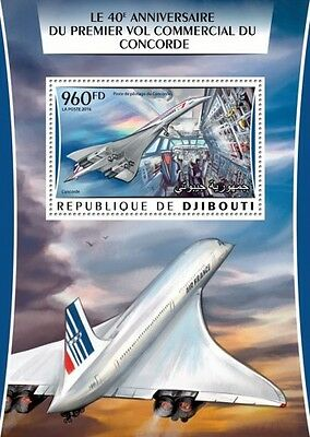 Z08 IMPERFORATED DJB16311b DJIBOUTI 2016 Concorde MNH