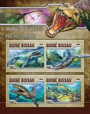 Z08 GB16516a GUINEA-BISSAU 2016 Prehistoric water animals MNH