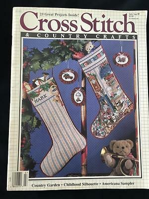 2 CHRISTMAS STOCKING patterns in 1988 Cross Stitch & Country Crafts MAGAZINE