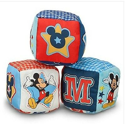 Disney Mickey Mouse Soft Blocks for Baby Set of 3 - New in Original Packaging!!