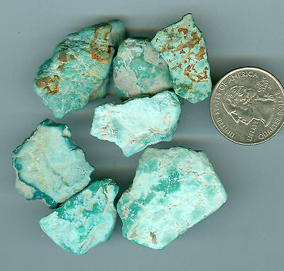44 Grams Natural Fox Turquoise Rough Natural Nevada Turquoise Rough Flats