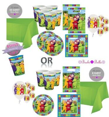 Teletubbies Birthday Party Supplies Pack Plates Cups Napkins For 8 Or 16 Kids