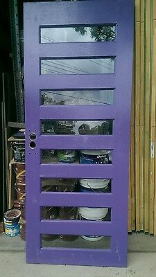 solid entrance front exterior door 2030 x 820 x 40  clear glass