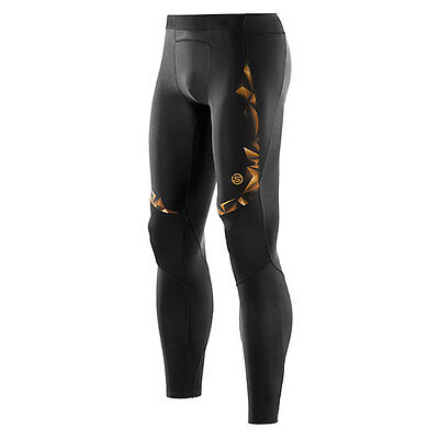 Skins A400 Mens Compression Long Tights Black/Gold