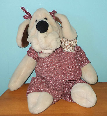 Vintage Wrinkles dog puppet girl The Heritage Collection 1981
