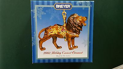 Breyer 2002 Holiday Carousel Lion Ornament Christmas Porcelain - NIB