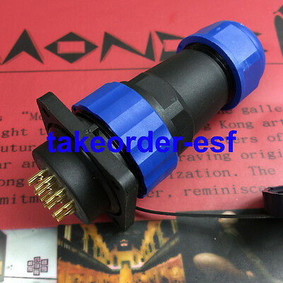 Waterproof Aviation Cable Connector Plug + Socket SD20-12 12 Pins IP68