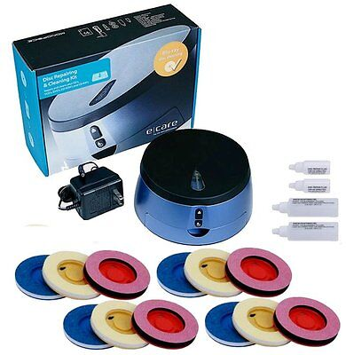 Disc Repair Scratch Cleaning Disk DVD CD Blu Ray Wii XBox PS4 PS3 2 + Refill Kit