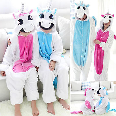 Unicorn Kigurumi Pajamas Animal Cosplay Costume Unisex Adult Onesie Sleepwear !!