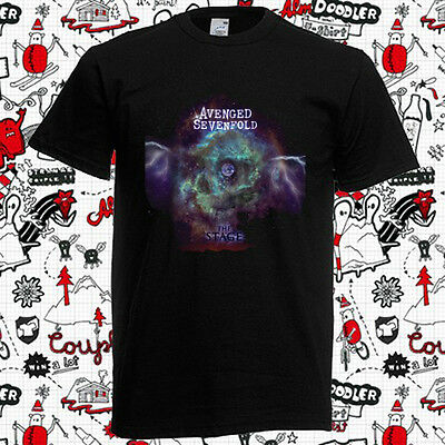 New Avenged Sevenfold Space The Stage Rock Band Men's Black T-Shirt Size S-3XL