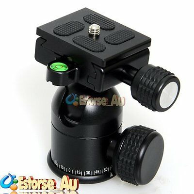 【AU】30mm Camera Tripod Ball Head Universal + Quick Release For Benro / Manfrotto