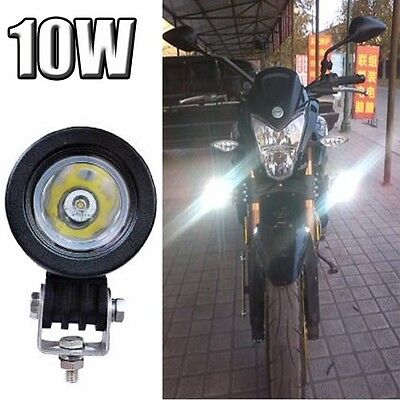 1PCS Motorcycle 10W Cree LED Work Driving Fog Head Spot Light Lamp Waterproof