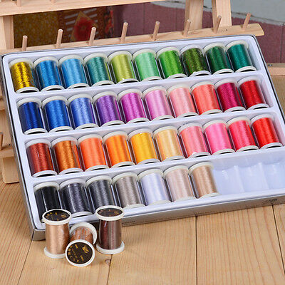 40 Color Sewing Machine Embroidery Polyester Thread for Brother Machine 280M