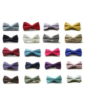 Boys' Formal Solid Colour Bow Tie